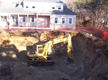 Cape cod excavating title v septic systems dalpe for Digging foundation for house